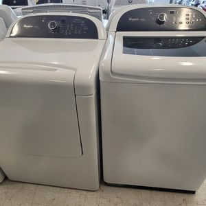 Whirlpool Tap Load Washer And Electric Dryer Set Used In Good Condition With 90day's Warranty for Sale in Mount Rainier, MD