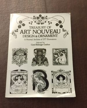 1980 Treasury of Art Nouveau Design & Ornament for Sale in Seal Beach, CA