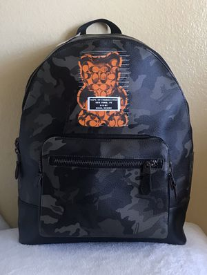 NEW Coach West Camo Vandal Gummy Mens Backpack for Sale in Upland, CA