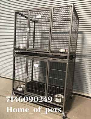 Double stackable Dog pet cage kennel size 37 medium new in box 📦 for Sale in Montclair, CA