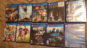Playstation 4 games ALL GAMES ARE DIFFERENT PRICES for Sale in Fresno, CA