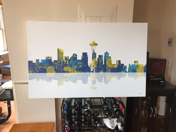 Painting of Seattle city scape