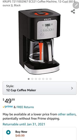 Brand new Krups 12 cup coffee maker for Sale in Greece, NY
