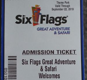 2 Great Adventure tickets including the Safari for Sale in Penndel, PA