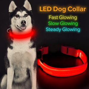 LED RECHARGEABLE ADJUSTABLE DOG COLLAR for Sale in New York, NY