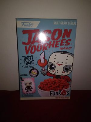 Limited Edition Jason Voorhees Cereal with Funko Mini Figure Never Opened for Sale in Kingsport, TN