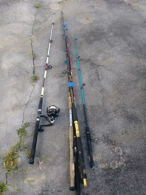 Lot of Fishing poles. 5 Rods and reel for Sale in Fort Myers, FL
