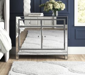 Mirrored 2 drawers nightstand for Sale in Los Angeles,  CA