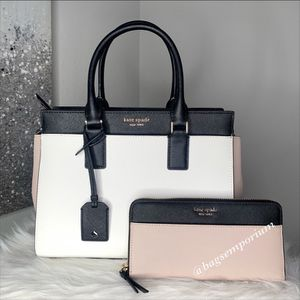 Kate Spade Cameron MD Leather Satchel Crossbody Bag Set / brand new purse for Sale in San Diego, CA
