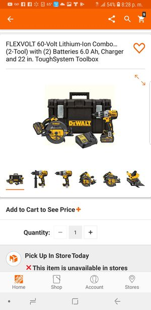 Drill 2 BATTERY 6ah flexvolt circular saw and charger for Sale in Laurel, MD
