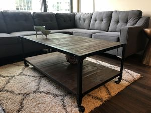 WOOD + METAL COFFEE TABLE FOR SALE for Sale in Boston, MA