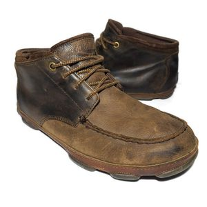 OluKai Hamakua Leather Chukka Saddle Shoes Boots Mens Size 11.5 for Sale in Lexington, SC