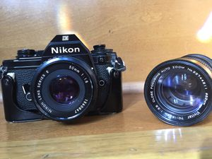 Vintage Nikon camera and Lens for Sale in Bloomingdale, IL