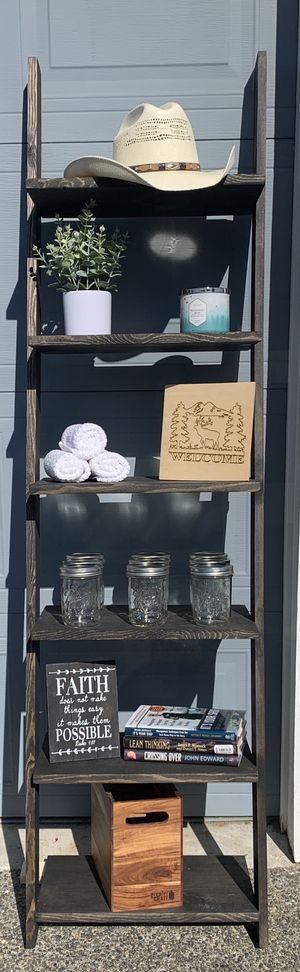 Rustic Leaning Ladder Shelf for Sale in Auburn, WA