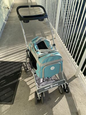 Detachable dog stroller baby blue for Sale in Anaheim, CA