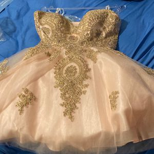 Quinceanera Rose Gold Short Dress (new) for Sale in Hollywood, FL