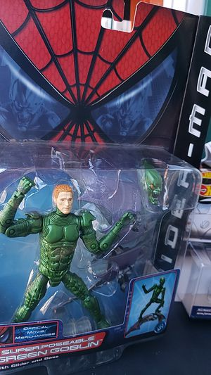 MARVEL UNIVERSE ACTION FIGURE COLLECTIBLE SPIDER-MAN GREEN GOBLIN 2001 PICK UP IN WHITTIER THANKS 😊 for Sale in City of Industry, CA