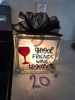 Friends Glass Block Night Light ****last one**** on sale for Sale in Winter Haven, FL