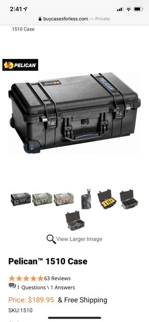 Brand new PELICAN 1510 HARD CASE - with foam. NEW . for Sale in Roseville, CA