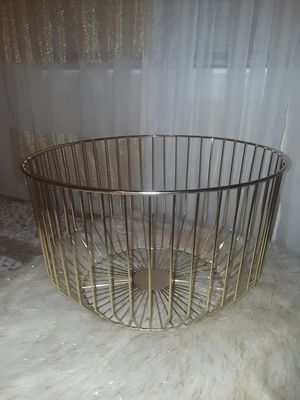 Gold iron throw blanket basket for Sale in Rockville, MD