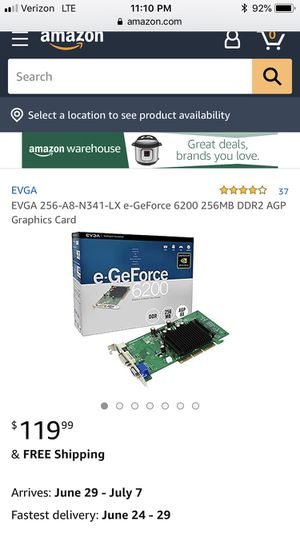 GeForce 6200 256 mb ddr agp for Sale in Los Angeles, CA