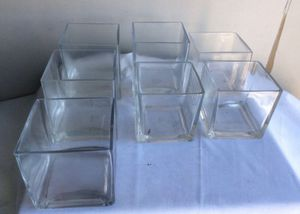 Glass containers for votives or succulent garden for Sale in Naples, FL