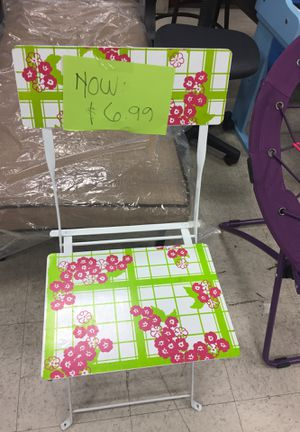 Garden folding chair for Sale in San Leandro, CA