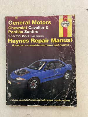 GM Repair Manual Cavalier And Sunbird 95-04 for Sale in Mesquite, TX