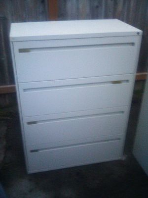 Office metal filing cabinet locks have keys for Sale in Spokane, WA