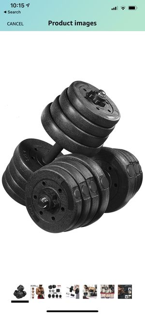 MOVTOTOP 66.14 LBS Adjustable Dumbbell Set, 【2020 Newest】 Weight Dumbbell/Barbell Set, Non-Slip Dumbbells for Sale in Los Angeles, CA