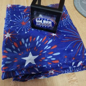 God Bless America Photo Cube And Scarf for Sale in Appleton, WI