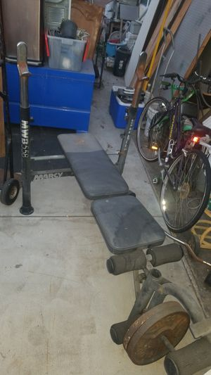 Marcy bench press total gym free weights for Sale in Los Angeles, CA