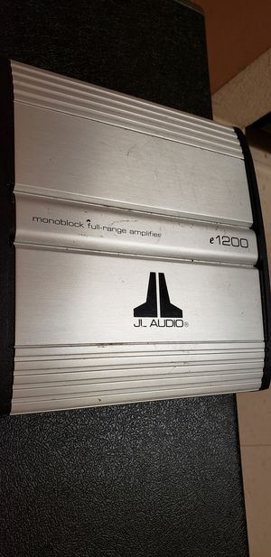 JL audio monoblock Full_range amplifier e1200 for Sale in Murfreesboro, TN