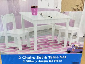 Delta Children MySize Kids Wooden Play Activity Table & Chairs Set, Bianca White $60 FIRM for Sale in Redlands, CA