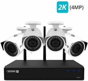 DEFENDER WIRELESS 2K 4-CHANNEL SECURITY SURVEILLANCE SYSTEM WI-FI for Sale in Freistatt, MO