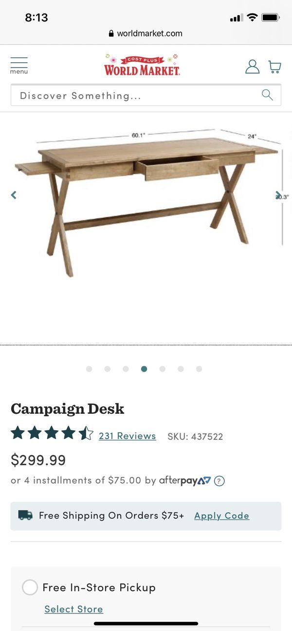 1 year old world market desk $150 originally $300