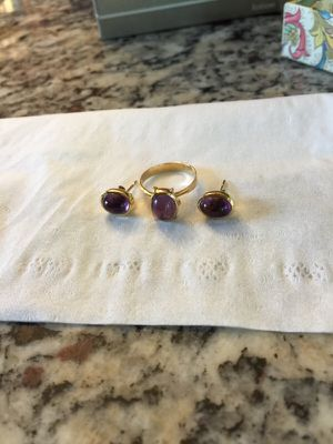 Vintage amethyst cabochon in 14 kt gold for Sale in Fairfax, VA