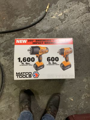 Matco 3/8 and 1/2 20v cordless impacts for Sale in Lexington, KY