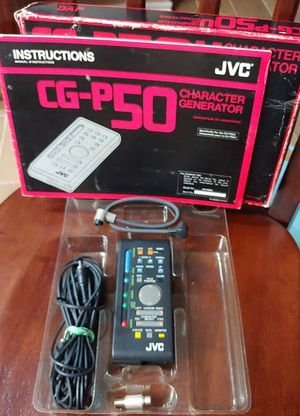 JVC CG-P50 Character Generator for Sale in Kyle, TX