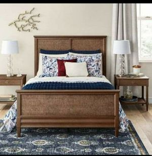 Full size Wicker wood bed for Sale in Morrisville, NC