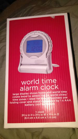 NEW World Time Alarm Clock for Sale in Bethel Park, PA