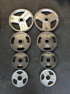 Olympic weights (2x35s 2x25s 2x10s 2x5s) for $100 Firm!!! for Sale in Burbank, CA