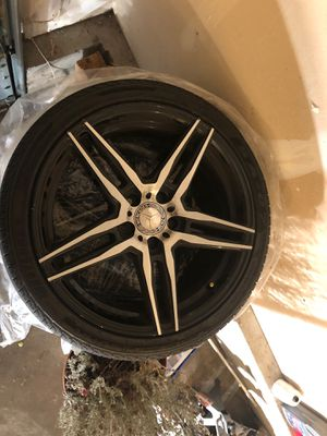 Staggered After Market Mercedes wheels and tires 850 OBO for Sale in South Hill, WA
