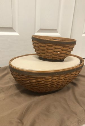 2008 Large and small oval set longaberger baskets for Sale in Providence, KY