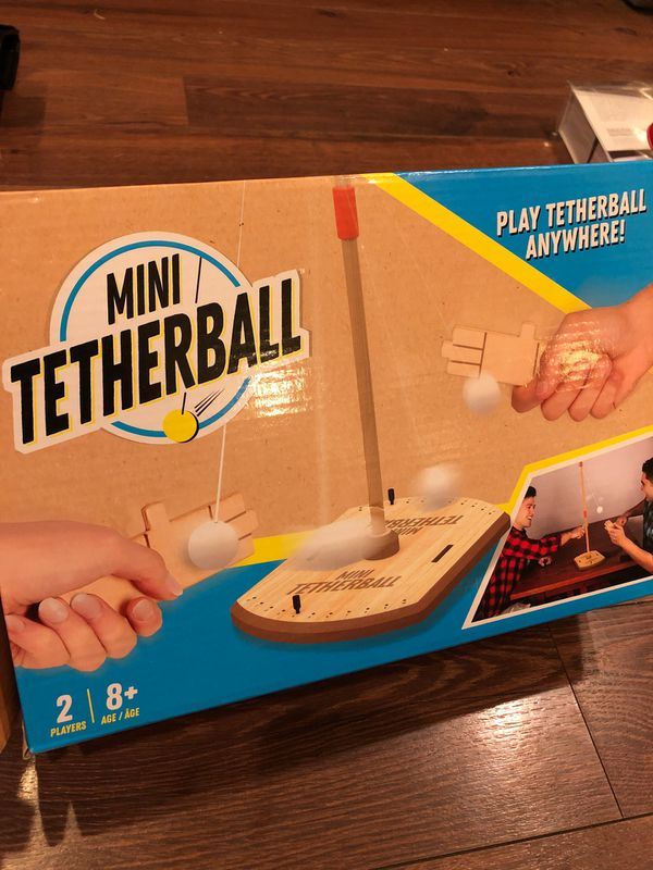 New mini tetherball game - wooden toy- drinking game - party game - kids