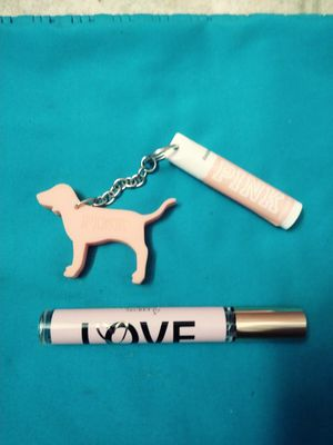 Victoria's Secret Love perfume and lip balm keychain for Sale in Portland, OR