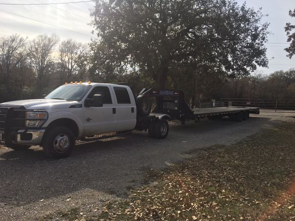 Hot shot delivery 40ft gooseneck tandem trailer