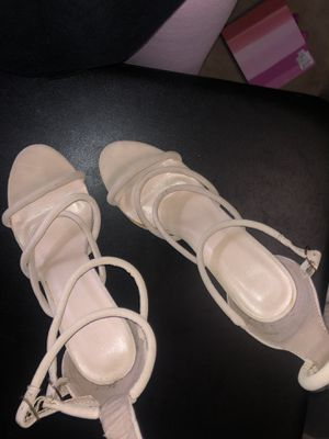 tan lace heels for Sale in Jacksonville, FL