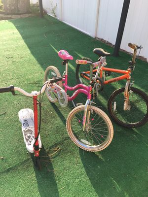 Two bicycles and electric scooter $80 all for Sale in Egg Harbor Township, NJ