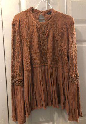 New American Eagle 🦅 designer 👩‍🎨 exquisite lace & flow doll blouse shirt top Large for Sale in Conway, SC